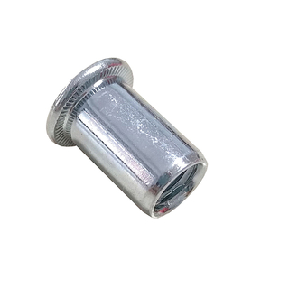 Flat Head Plain Ribbed Insert Rivet Nuts