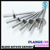 FLANGE HEAD STAINLESS STEEL CLOSED END BLIND RIVETS